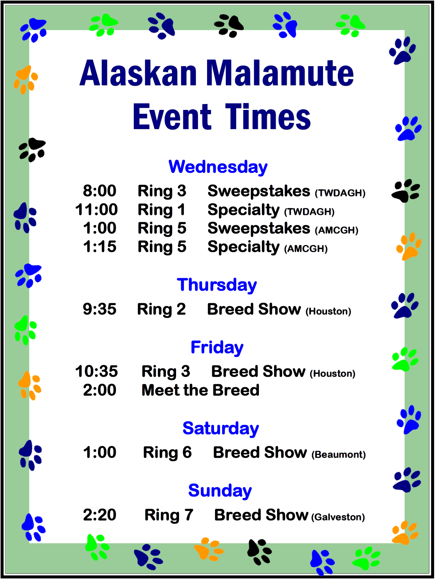 2016 Ring Times
